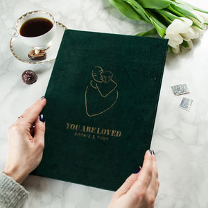 Luxury Velvet Personalised Notebook
