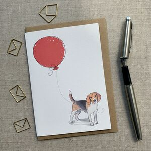 Personalised Beagle Birthday Card