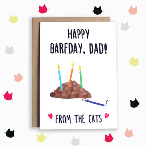 Birthday Card For Dad From The Cats - birthday cards