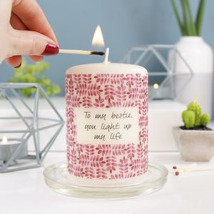 Best Friend Personalised Candle Gift For Her
