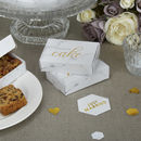 Marble And Gold Wedding Cake Box