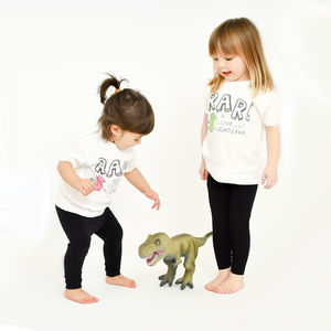 'Rar Is I Love You In Dinosaur' T Shirt
