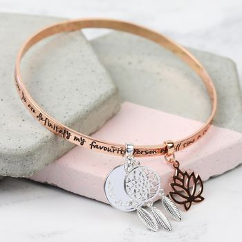 Personalised 'Favourite Person' Meaningful Quote Bangle