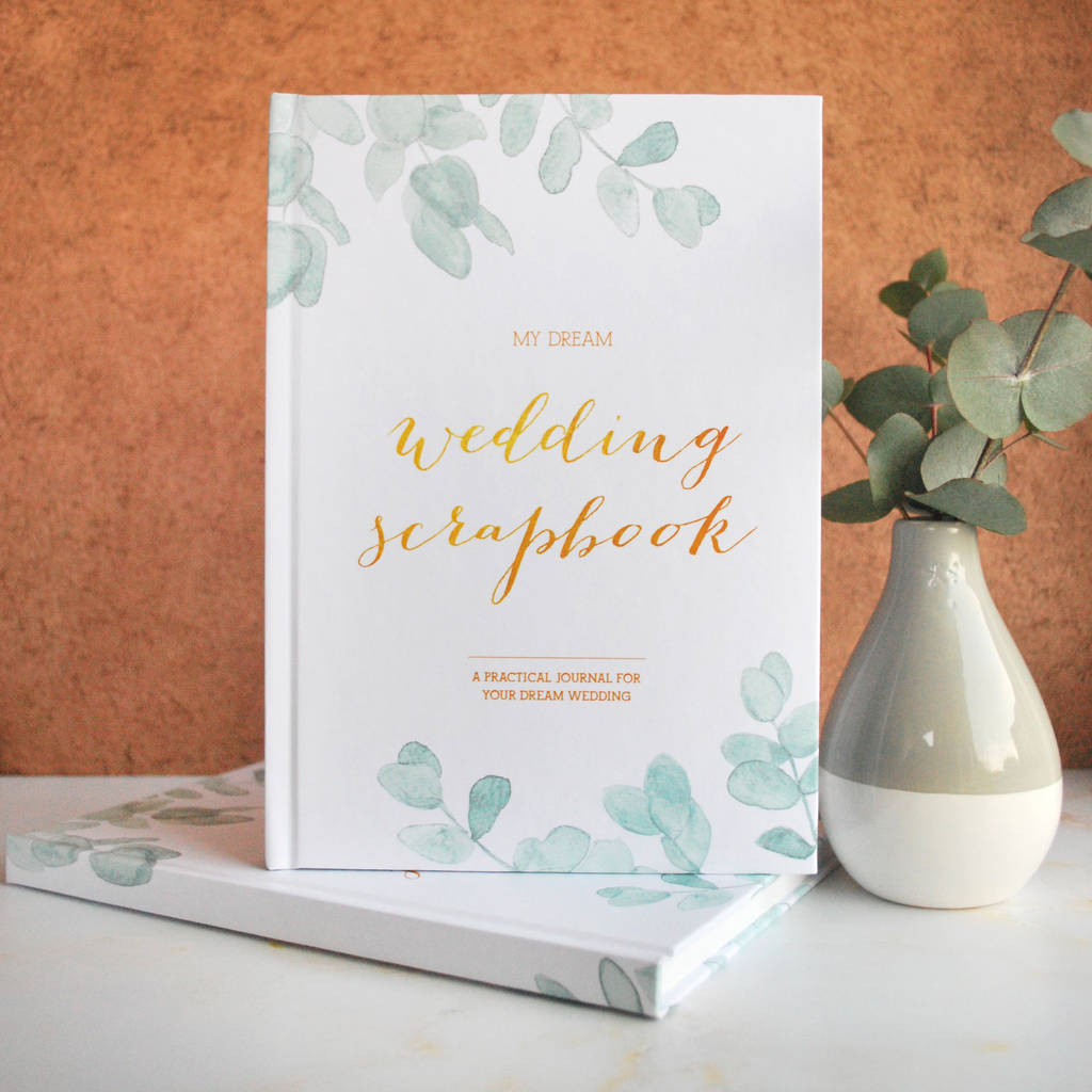 ... > BLUSH AND GOLD > WEDDING PLANNER BOOK BOTANICAL ENGAGEMENT GIFT