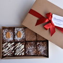 Christmas Brownie Box Serves Eight