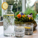 Floral Glass Tumblers And Carafe Set