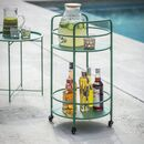 Black, Coated Metal Drinks Trolley