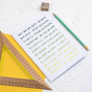 Ombre Green Grammar Rules Notebook