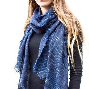 Emi Shot Blue Scarf - scarves