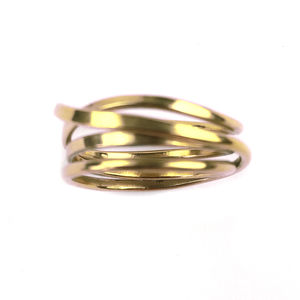 18 Carat Gold Vermeil Cosmic Ring - rings