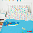 Personalised Organic Single Whale Duvet Set