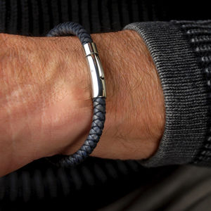 Men's Leather Plait Bracelet