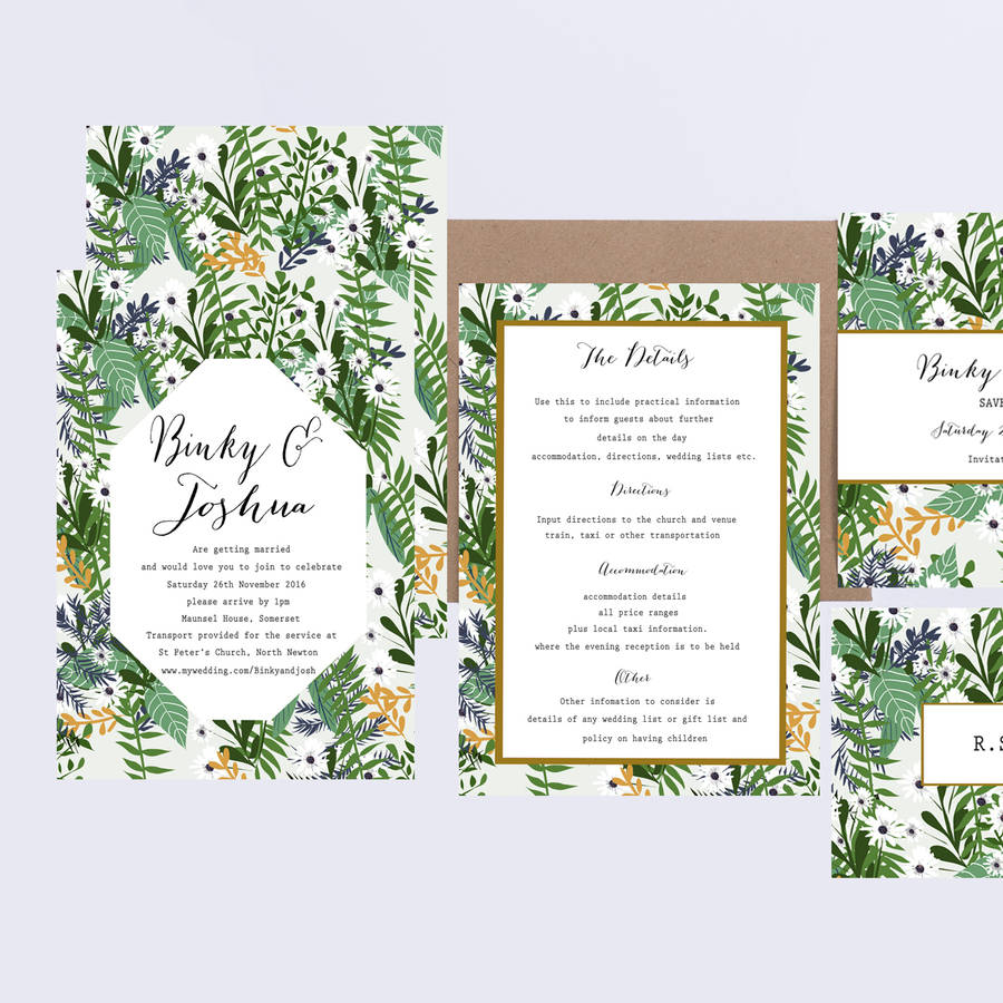 Botanical Weding Invitations 08 - Botanical Weding Invitations