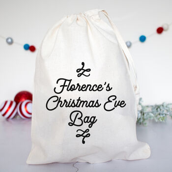 Personalised Modern Christmas Eve Box Bags
