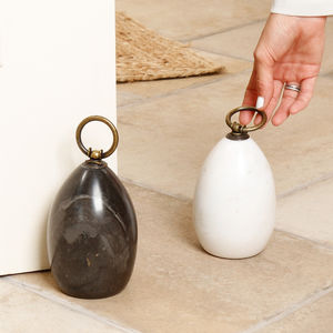 Personalised Contemporary Conical Marble Doorstop - door stops & draught excluders