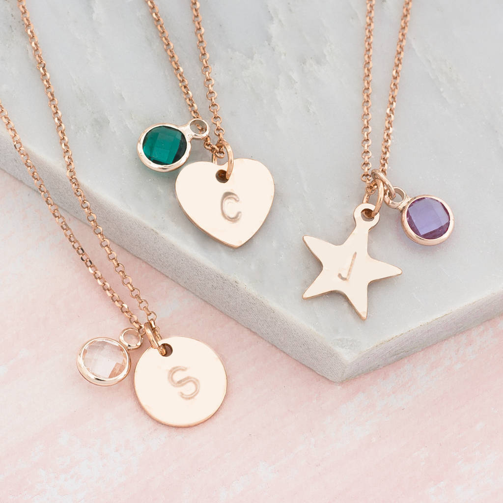 love necklace stamped you keely moon hand pendant the to products