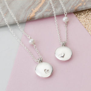 Mother And Daughter Locket Necklace Set - personalised jewellery
