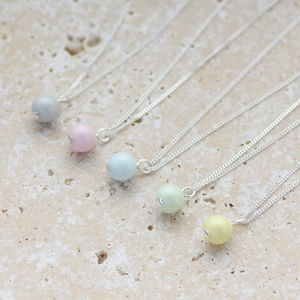 Pastel Swarovski Pearl Pendant - new lines added