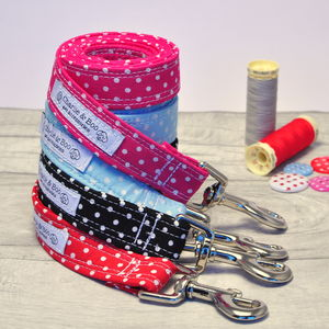 Polka Dot Spotty Dog Lead - dog leads & harnesses