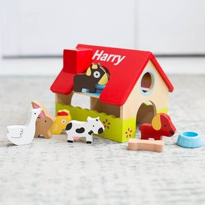 Personalised Wooden Farm Set - personalised gifts for babies