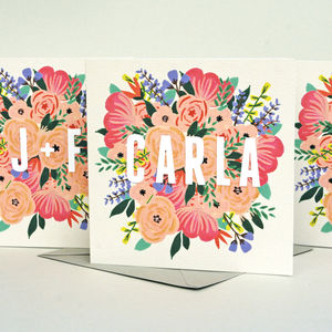 Personliased Any Occasion Floral Card