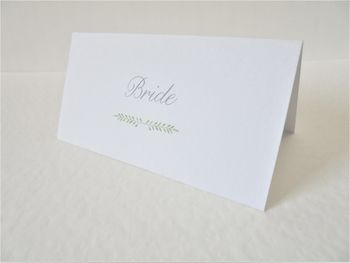Personalised Botanical Wedding Place Card