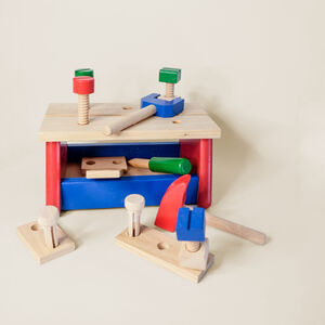 Wooden Workbench Toy With Tools And Storage