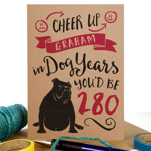 Dog Years Birthday Card - funny cards