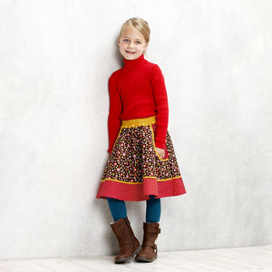 Woodland Toadstools Deep Pocket Twizzle Skirt - clothing