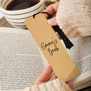 Personalised Mirror Gold Metal Bookmark
