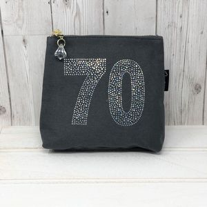 70th Personalised Sparkly Birthday Bag