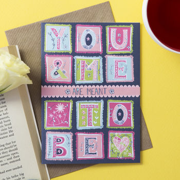 'You And Me' Greetings Card