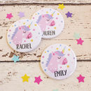 Unicorn Personalised Party Badges