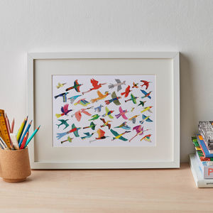 Bright And Colourful Birds Print