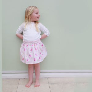 Girls Bunny Summer Skirt - clothing