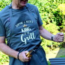 Personalised Daddy King Of The Grill Apron