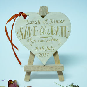 Personalised 'Save The Date' Heart Invitation - invitations