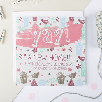 New Home Card 'Cake And Wifi'
