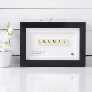 Name Scrabble Art