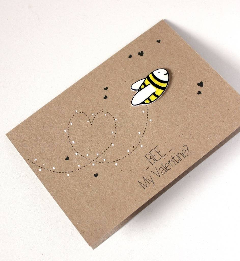 bumble bee be my valentine valentines day card by little – Bee My Valentine Card