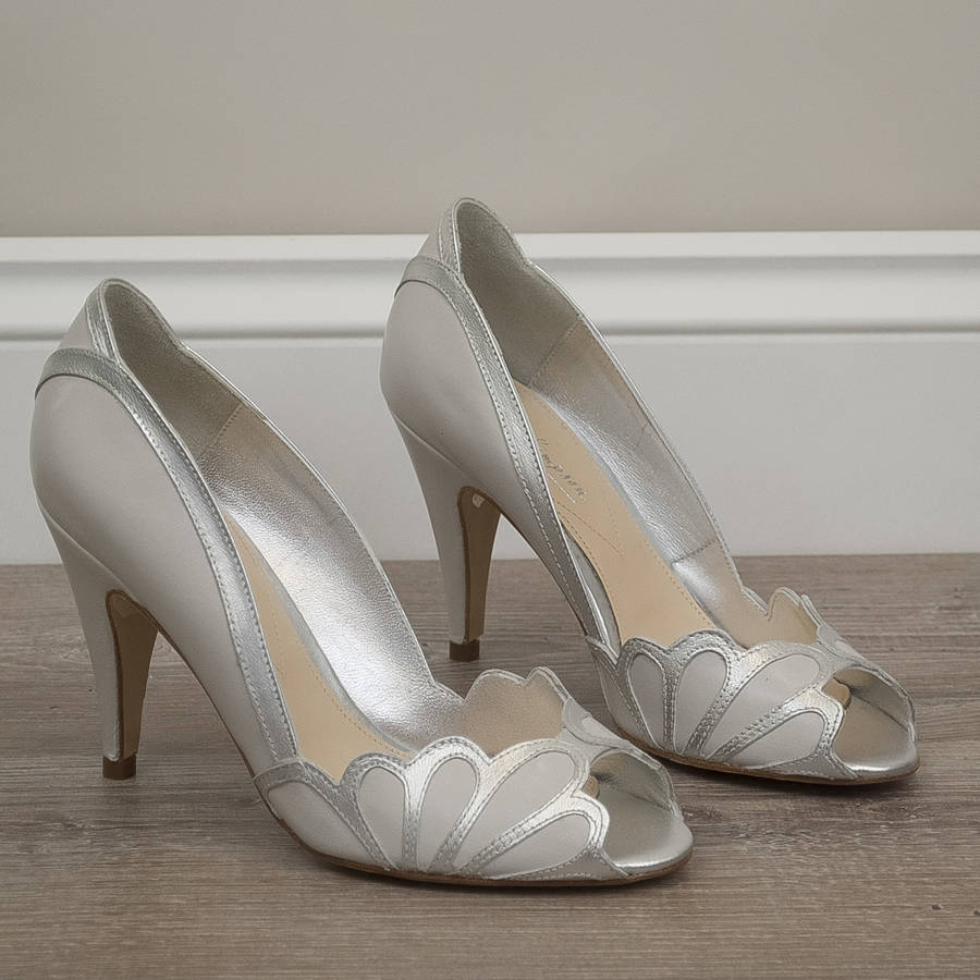 Wedding Peep Toe Shoes Isabelle By Rachel Simpson