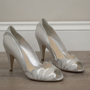 Wedding Peep Toe Shoes Isabelle - bridal shoes