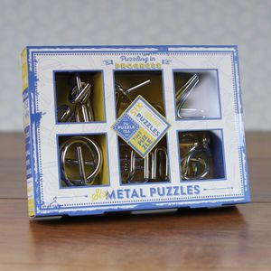 Brain Busting Puzzles Set Of Metal Teasers - baby & child
