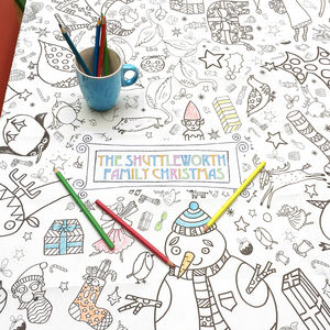 Colour In Poster Tablecloth Christmas *Personalise It