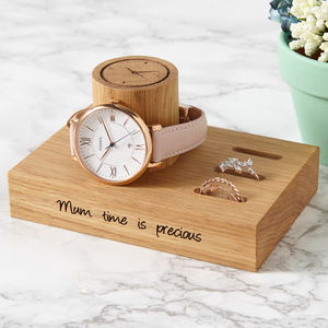 Personalised Ladies Watch And Ring Stand - jewellery storage & trinket boxes