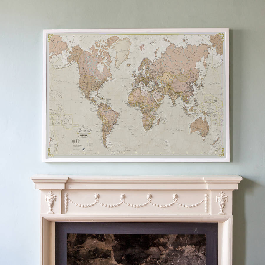 Antique Map Of The World world maps