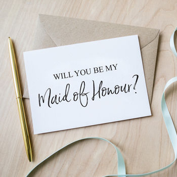 'Will You Be My Maid Of Honour' Card