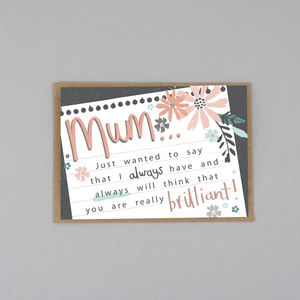 Mother's Day Card Brilliant Mum - summer sale