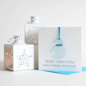 Personalised Christmas Decoration 'Snowman' Card - cards sent direct