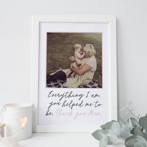 'All That I Am' Personalised Mother's Day Gift - wedding gifts for mothers